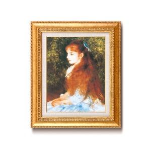【世界の名画】名画額縁 複製画 絵画額 ■ ルノワール名画額F6金「可愛いイレーネ」 ひも付き