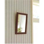木製スタンド付きミラー 【サイズ 約247×298×28〜250mm】 日本製 ブラウン