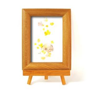 いわさきちひろ 心温まるナチュラル木製フォトフレーム イーゼル付き (夢の花)