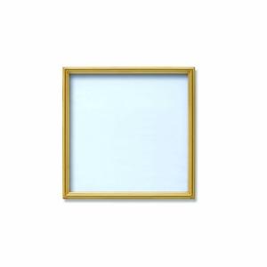 【角額】アルミ正方形額・壁掛けひも・アクリル付き ■250角(250×250mm)ゴールド