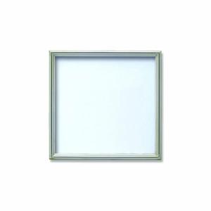 【角額】アルミ正方形額・壁掛けひも・アクリル付き ■300角(300×300mm)シルバー