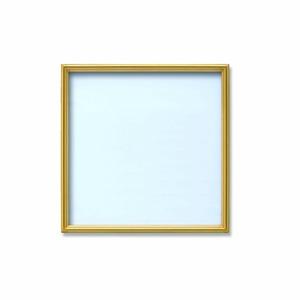 【角額】アルミ正方形額・壁掛けひも・アクリル付き ■300角(300×300mm)ゴールド