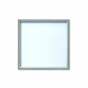 【角額】アルミ正方形額・壁掛けひも・アクリル付き ■350角(350×350mm)シルバー
