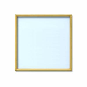 【角額】アルミ正方形額・壁掛けひも・アクリル付き ■350角(350×350mm)ゴールド