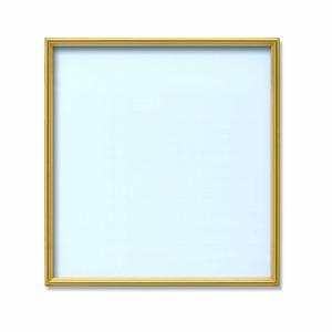 【角額】アルミ正方形額・壁掛けひも・アクリル付き ■400角(400×400mm)ゴールド