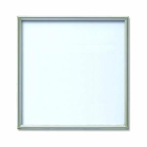 【角額】アルミ正方形額・壁掛けひも・アクリル付き ■450角(450×450mm)シルバー