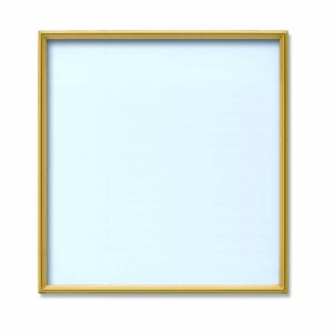 【角額】アルミ正方形額・壁掛けひも・アクリル付き ■450角(450×450mm)ゴールド