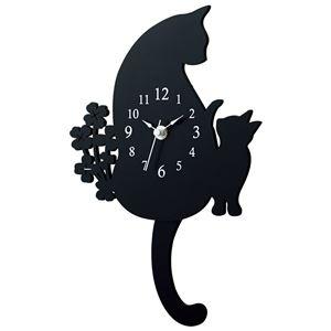 おしゃれネコの振り子時計 【クロネコ】
