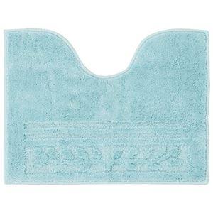 (まとめ) 抗菌防臭カラフルトイレマット『オリーブ柄』 ブルー 【4: ロングマット】【×2セット】