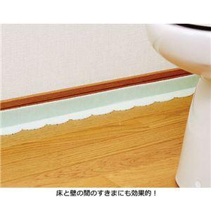 (まとめ) 吸着便器すき間テープ4枚組 グリーン 【×3セット】