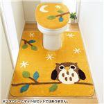 【訳あり・在庫処分】ふくろうとネコのトイレマットシリーズ ふくろう 【5: ジャンボマット】