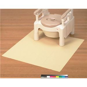 トイレ足もと防水シートGR 極薄タイプ(厚さ0.7mm) くり返し使用(洗濯)可 (トイレ用品/介護用品)