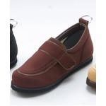 【訳あり・在庫処分】介護靴/リハビリシューズ ブラウン LK-1(外履き) 【片足のみ 22cm】 3E 左右同形状 手洗い可/撥水 (歩行補助用品) 日本製