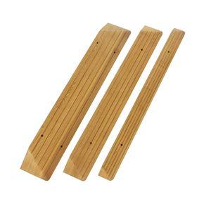 豊通オールライフ 木製段差解消スロープRタイプ (6)80x12.5x4
