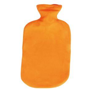 三信商会 湯たんぽ MOTTAINAIフリース湯たんぽキャップオープナー付オレンジ O33712