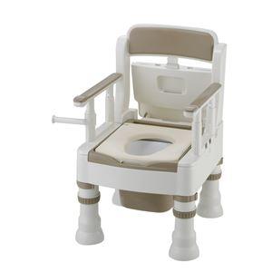 リッチェル 樹脂製ポータブルトイレ ポータブルトイレきらくミニでか(3)MY型アイボリー 45611