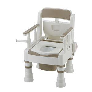 リッチェル 樹脂製ポータブルトイレ ポータブルトイレきらくミニでか(5)MH型アイボリー 45621
