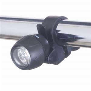 (まとめ)自転車用LEDライト ミニタイプ 日亜製白色LED×3灯 ヤザワ LB101BK【×5セット】