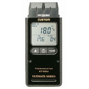 熱電対温度計 2チャンネルKタイプ custom(カスタム) KT-02U