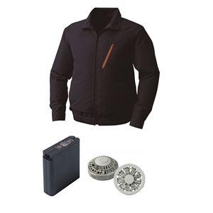 空調服 ポリエステル製空調服 大容量バッテリーセット ファンカラー:グレー 0510G22C03S2 【カラー:ネイビー サイズ:M】