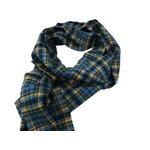 新作 英国製 Made in Scotland カシミヤ100%ストール Playful tartan check