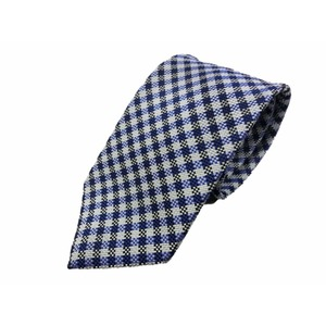 ワンランク上の日本製シルク100%ネクタイ ブルーチェック