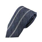 新作季節素材ネクタイ  日本製シルク100% 希少生地 ネイビー