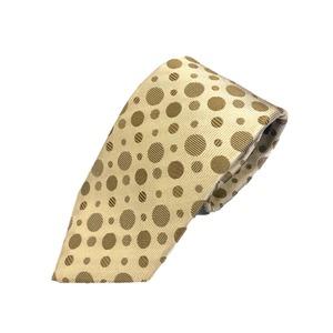 新作ネクタイ  日本製シルク100% ゴールド&水玉