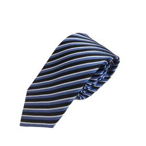 イタリア製 Gian Bellini ファクトリーシルクネクタイ ブルー×ストライプ