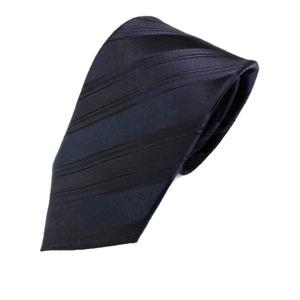 ストライプシリーズ 日本製シルク100% ネイビー織りストライプ