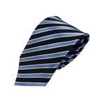 織りストライプシリーズ 日本製シルク100% レジメンロイヤルブルー