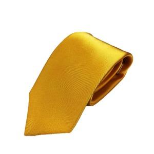 サテン無地シリーズ 日本製シルク100% イエローゴールド