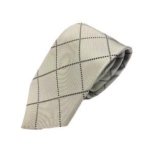 織りチェックシリーズ 日本製シルク100% きなり