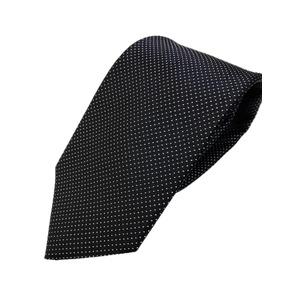 織り水玉シリーズ 日本製シルク100% ブラックドット