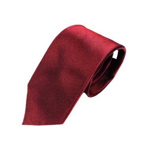 織り小柄シリーズ 日本製シルク100% エンジ