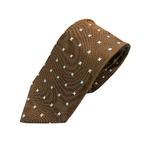 厳選ワンランク上のネクタイ 織小紋シリーズ シルク100% ブラウン