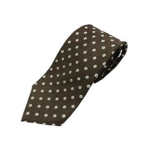 厳選ワンランク上のネクタイ 織小紋シリーズ シルク100% ダークブラウン