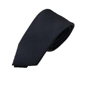 厳選ワンランク上のネクタイ 無地・織柄シリーズ シルク100% 凹凸ダークネイビー