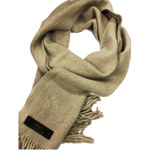 おすすめ 機屋直仕入れ 日本製カシミヤ100% 織マフラー きなり (ライトベージュ) 無地