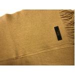 おすすめ 機屋直仕入れ 日本製カシミヤ100% 織マフラー キャメル 無地