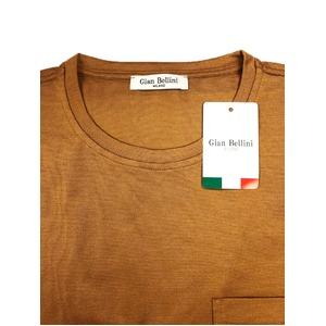 イタリア製ファクトリー コットンTシャツ ブラウン Mサイズ
