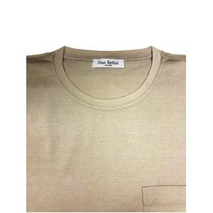 イタリア製ファクトリー コットンTシャツ ベージュ Lサイズ