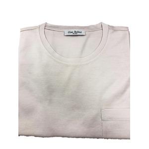 イタリア製ファクトリー コットンTシャツ さくら ほんのりピンク Lサイズ