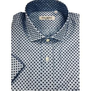人気 イタリア製ファクトリー コットン半袖シャツ ストライプ&水玉 Mサイズ