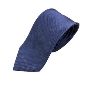日本製シルク100%ネクタイ ピンドット ネイビー/ブルー