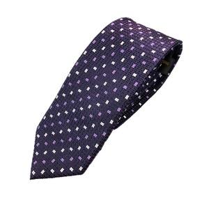 シルク100%ネクタイ パープル 小柄