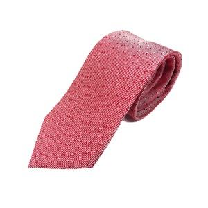 イタリア製 シルク100%ネクタイ From MILANO ドット・織柄 希少デザイン レッド