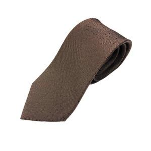 イタリア製 シルク100%ネクタイ From MILANO ドット・織柄 希少デザイン ブラウン