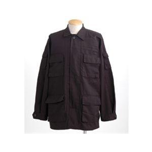 アメリカ軍 BDUジャケット/迷彩ジャケット 【Mサイズ】 JB001YN ブラック 【レプリカ】