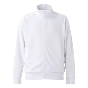 UVカット・吸汗速乾・ドライジャージパイルフルジップラグランスリーブジャケット ホワイト L